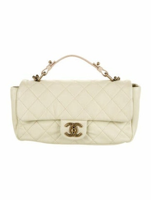 Chanel CC Quilted Flap Bag Beige