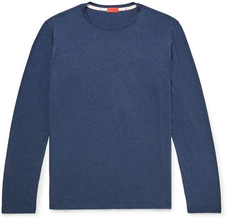 Isaia Melange Cotton-Jersey T-Shirt