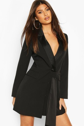 boohoo Sash Detail Blazer Dress