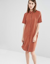 Selected Vilo Short Sleeved Shirt Dress