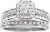 JCPenney FINE JEWELRY I Said Yes 3/8 CT. T.W. Certified Diamond Princess-Style Bridal Set