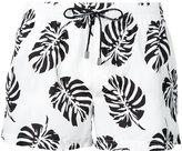 Dolce & Gabbana palm print swim shorts - men - Polyamide/Polyester - 3