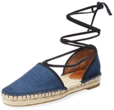 Frye Leo Denim Lace-Up Espadrille