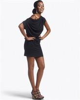 Knit Drapeneck Tunic Dress
