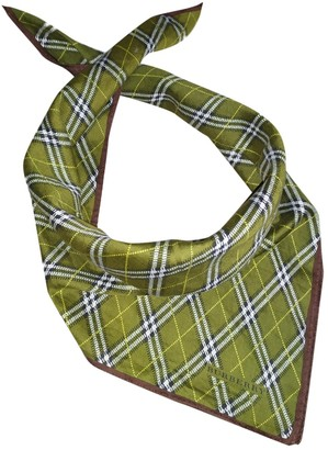 Burberry Green Cotton Scarves