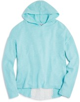 Splendid Girls' Lace Back Hoodie - Big Kid