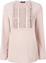 Steffen Schraut pleated bib blouse - women - Silk/Spandex/Elastane - 34