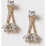 Dorothy Perkins Womens Rhinestone Front and Back Earrings- Clear