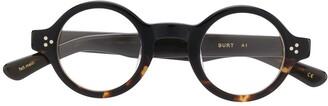 Lesca Burt round tortoiseshell glasses