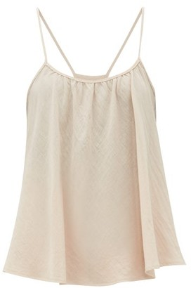 Loup Charmant Scoop-neck Cotton Cami Top - Womens - Light Pink