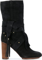 See by Chloe tie detail pirate boots - women - Leather/Suede - 35
