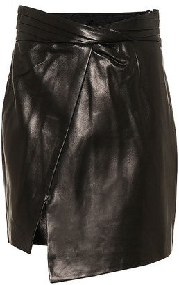 RtA Evie leather miniskirt