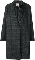 Antonio Marras brooch detail checked coat