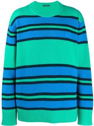 Acne Studios face patch striped jumper