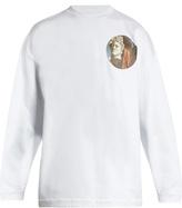 Off-White Chirico-print cotton-jersey sweatshirt