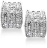Effy Classique by Diamond Hoop Earrings (1-1/10 ct. t.w.) in 14k White Gold