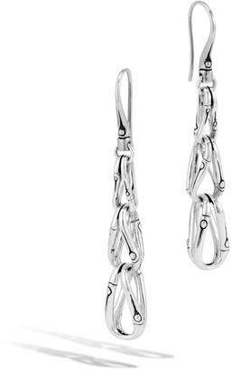 John Hardy Bamboo Loop Link Drop Earrings