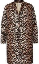 GANNI Leopard-print Cotton-twill Coat