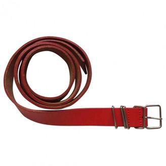 Comme des Garcons Red Leather Belts