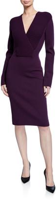 Tom Ford Ribbed V-Neck Knit Dress