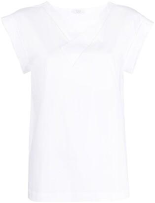 Peserico V-neck stretch-cotton T-shirt