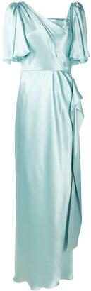 Dolce & Gabbana Drape Detail Silk Dress