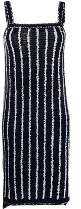 Thom Browne Crochet Banker Stripe Sleeveless Dress