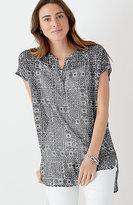 J. Jill Printed Cap-Sleeve Tunic