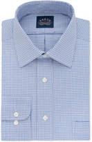 Eagle Big & Tall Non-Iron Stretch Collar Blue Check Dress Shirt