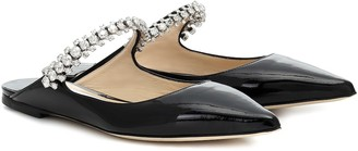 Jimmy Choo Bing Flat patent leather mules