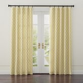 Crate & Barrel Moritz White and Gold Curtains