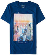 Aeropostale Mens Free State Nyc Photo Graphic T Shirt Blue