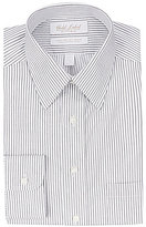 Roundtree & Yorke Gold Label Roundtree & York Non-Iron Fitted Classic-Fit Point-Collar Striped Dress Shirt