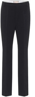 Plan C High-rise straight cropped pants