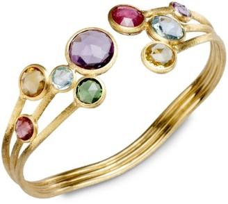 Marco Bicego Jaipur Semi-Precious Multi-Stone & 18K Yellow Gold Three-Row Cuff Bracelet