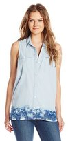 Calvin Klein Jeans Women's Sleeveless Denim Button Down