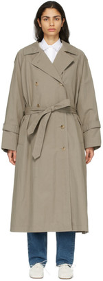 Totême Taupe Techno Trench Coat