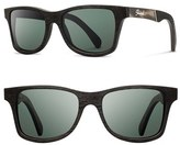 Shwood Women's 'Canby' 55Mm Polarized Wood Sunglasses - Dark Walnut/ Grey/ G15 Polar