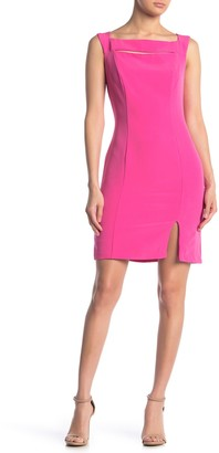 Laundry by Shelli Segal Luxe Stretch Crepe Dress