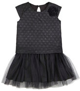 Petit Lem Girls 2-6x Regalia Shiny Quilt Dress