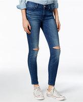 True Religion Ripped Cobalt Rush Slits Wash Skinny Jeans
