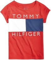 Tommy Hilfiger Logo Flag T-Shirt, Big Girls