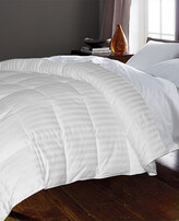 Blue Ridge Home Hotel Suite Medium Weight White Goose Down And Feather Damask Stripe Comforter