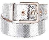 Emilio Pucci Metallic Embossed Leather Belt