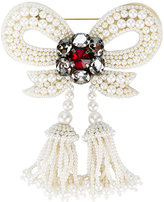 Gucci pearl embellished bow brooch