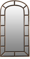 Houseology Collection Window Panel Edged Mirror
