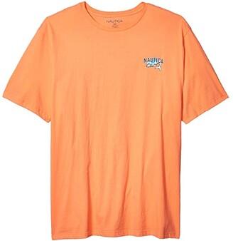 Nautica Big Tall Short Sleeve Graphic Tee (Orange) Men's Clothing