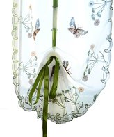 XARAZA Flower Pattern Sheer Sheer Voile Curtain Panel Drape Door Window Scarf Valances for Home Decor