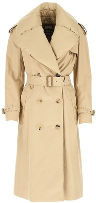 Burberry Detachable Collar Belted Trench Coat