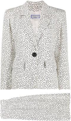 Yves Saint Laurent Pre Owned Confetti Print Skirt Suit